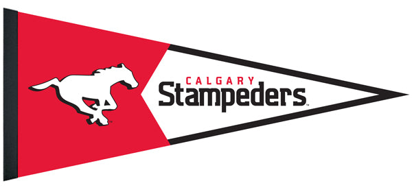 Calgary Stampeders CFL Football Team Premium Felt Pennant - The Sports Vault Canada