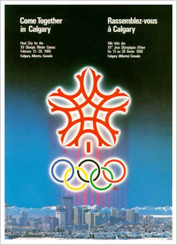 Calgary 1988 Winter Olympic Games Official Poster Reprint - Olympic Museum