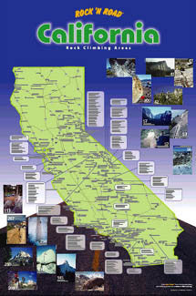 California Rock Climbing Map - Rock 'N Road 2003