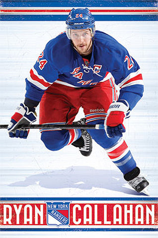 "Ryan Callahan ""Superstar"" New York Rangers NHL Action Poster - Costacos 2013"