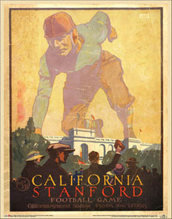 "Cal Bears vs. Stanford Cardinal ""Big Game 1923"" Vintage Program Cover Poster Print - Asgard Press"