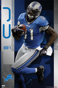 "Calvin Johnson ""Megatron Action"" Detroit Lions Poster - Costacos Sports"