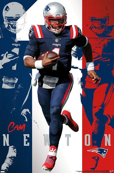 "Cam Newton ""Superstar"" New England Patriots Official NFL Football Wall Poster - Trends International"