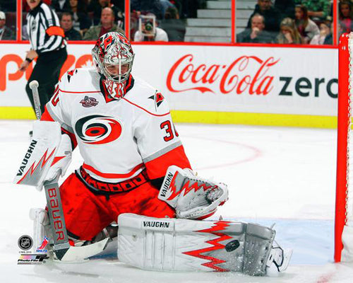 "Cam Ward ""Toe Save"" Carolina Hurricanes Goalie Premium NHL Poster Print - Photofile 16x20"