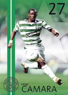 "Henri Camara ""Action"" Glasgow Celtic FC Poster - GB 2004"