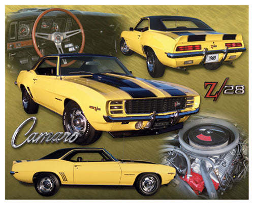 Chevrolet Camaro Z/28 (1969) Sportscar Autophile Super Collage Poster - Eurographics Inc.