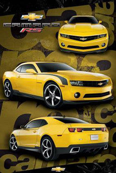 Camaro RS (2010) Three-Shot Muscle Car Profile Poster - Pyramid (UK)