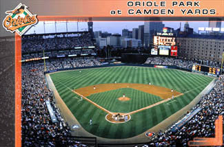 "Oriole Park at Camden Yards ""Game Night"" Baltimore Orioles Poster - Costacos Sports"