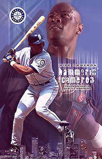 "Mike Cameron ""Hammerin' Cameron"" Seattle Mariners Poster - Starline 2002"