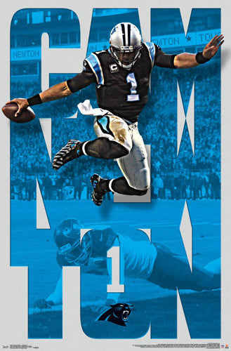 "Cam Newton ""Anything for a Touchdown"" Carolina Panthers NFL Poster - Trends 2016"