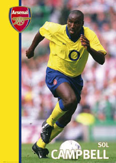 "Sol Campbell ""Road Warrior"" Arsenal FC Poster - GB 2004"