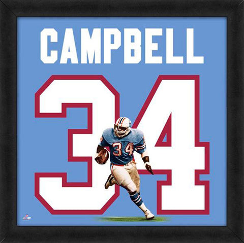 "Earl Campbell ""Number 34"" Houston Oilers FRAMED 20x20 UNIFRAME PRINT - Photofile"