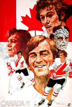 Team Canada 1976 Canada Cup Tournament Official Theme Art Poster - Worldsport Properties Ltd.