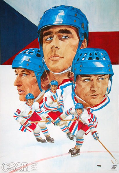 Team Czechoslovakia CSSR Canada Cup 1976 Hockey Poster - Worldsport Properties