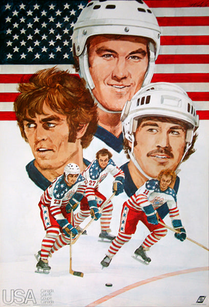 Team USA Hockey Canada Cup 1976 Official Team Poster - Worldsport Properties Ltd.