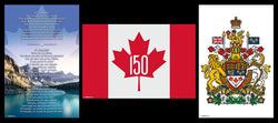 Canada 150th Anniversary (2017) Official Three-Poster Combo Set - Trends International