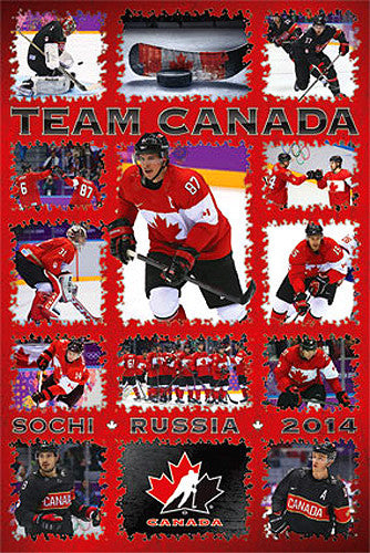 "Team Canada Olympic Hockey 2014 ""Superstars"" Poster - Costacos"