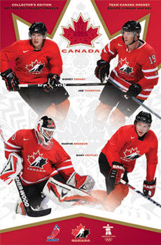 Team Canada Hockey 2010 Superstars Poster (Crosby, Thornton, Heatley, Brodeur) - Trends Int'l.
