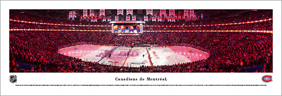 Canadiens de Montreal Centre Bell NHL Game Night Panoramic Poster Print - Blakeway
