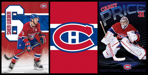 COMBO: Montreal Canadiens 3-Poster Combo Special (Weber, Price, Logo) Posters