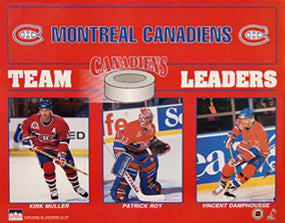 "Montreal Canadiens ""Team Leaders"" (1993) - Starline 16x20"