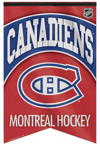 Montreal Canadiens Official NHL Team Logo Premium Felt Collector's Banner - Wincraft