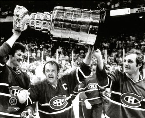 "Montreal Canadiens ""Raise The Cup 1978"" (Robinson, Cournoyer, Lafleur) Premium Poster Print"