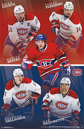 "Montreal Canadiens ""Superstars"" NHL Poster (Gionta, Briere, Gallagher, Plekanec, Pacioretty)"