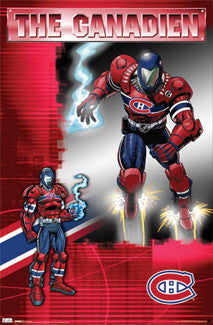 "Montreal Canadiens ""The Canadien"" Guardian Project Character Poster - Costacos 2011"