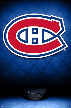 Montreal Canadiens Official Team Logo Poster - Costacos