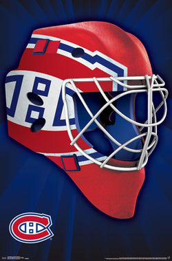 "Montreal Canadiens ""Mask"" NHL Hockey Official Team Logo Theme Wall POSTER - Trends 2016"