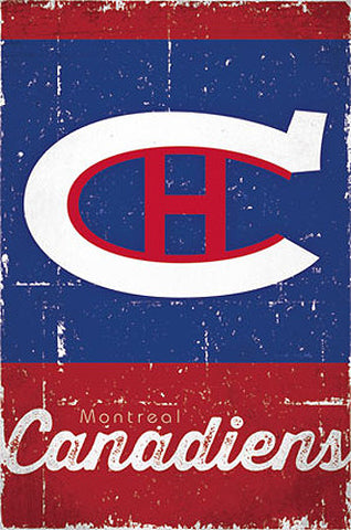 Montreal Canadiens Retro-Series NHL Team Logo Poster - Costacos Sports