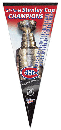Montreal Canadiens 24-Time Stanley Cup Champions EXTRA-LARGE Premium Pennant
