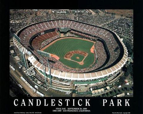 San Francisco Giants Final Day at Candlestick Park Premium Poster Print - Aerial Views 1999