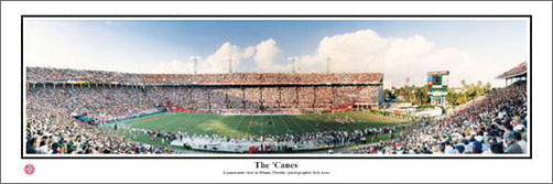 "Orange Bowl Miami ""The Canes"" Miami Hurricanes Panoramic Poster Print - Everlasting Images"
