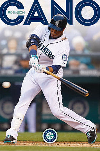 "Robinson Cano ""Blast"" Seattle Mariners MLB Action Wall Poster - Costacos 2014"