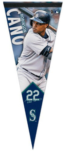"Robinson Cano ""Signature Series"" Seattle Mariners Premium Felt Collector's Pennant - Wincraft Inc."