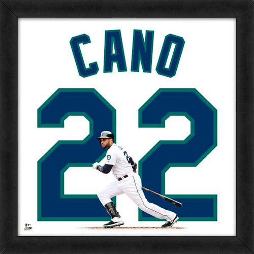 "Robinson Cano ""Number 22"" Seattle Mariners FRAMED 20x20 UNIFRAME PRINT - Photofile"
