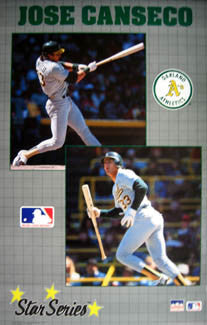 "Jose Canseco ""Star Series"" Oakland A's Poster - Starline 1990"