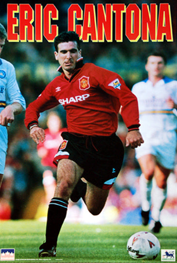 "Eric Cantona ""Action"" Manchester United FC Soccer Action Poster - Starline 1995"