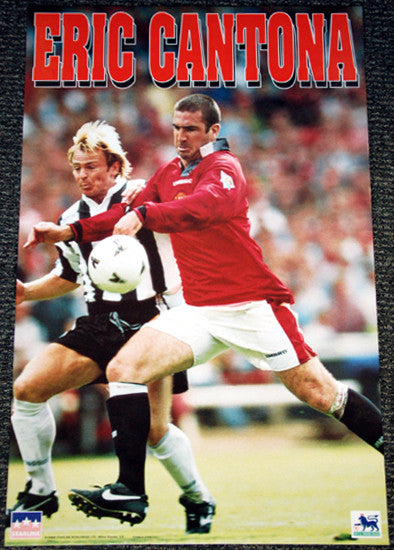 "Eric Cantona ""Superstar"" Manchester United FC Poster - Starline 1996"