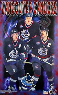 Vancouver Canucks Superstars 1998 Poster (Messier, Bure, Ohlund) - Starline Inc.