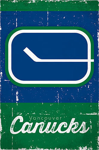 Vancouver Canucks Retro-Series NHL Team Logo Poster - Costacos Sports