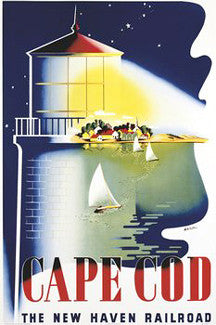 Cape Cod Sailing Classic (New Haven Railroad c.1946) Poster Reprint - Image Source Inc.