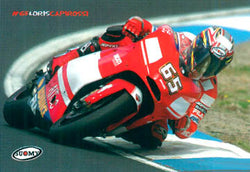 "Loris Capirossi ""MotoGP Action"" Ducati Motorcycle Racing Poster - Suomy"