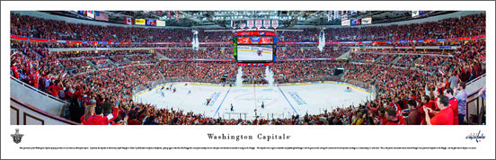 Washington Capitals 2015 NHL Playoffs Game Night Panoramic Poster Print - Blakeway Worldwide