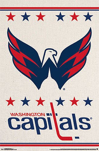 Washington Capitals Official NHL Hockey Team Logo Poster - Trends International
