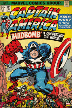 "Captain America #193 (Jan. 1976) ""Madbomb"" Official Cover 24x36 Wall Poster - Pyramid International"