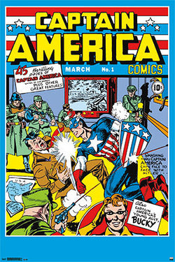 Captain America #1 (Mar. 1941) Official Poster-Sized Cover Reprint - Trends International