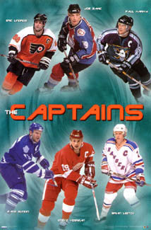 "NHL Hockey ""The Captains"" Superstars Poster (1998-99) - Costacos Sports"